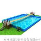 山东菏泽支架水池水乐园可以有网红桥水滑梯双重搭配