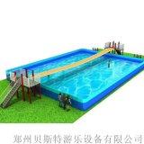 山東菏澤支架水池水樂園可以有網紅橋水滑梯雙重搭配