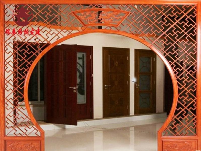貴州茶樓仿古圓洞門設計定製廠家