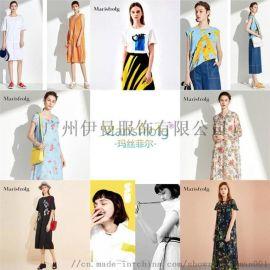 深圳时尚潮牌女装玛丝菲尔19年夏装品牌女装折扣走份