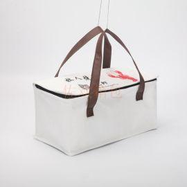 厂家定制logo小龙虾外卖包无纺布袋保温袋冰包礼品