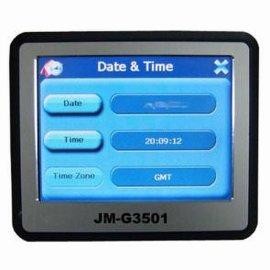 3.5寸触摸屏+PMP车载便携式GPS导航仪 (JM-G3501)