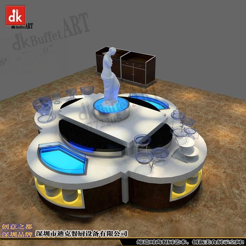 迪克森订做餐厅家具大理石自助餐台十余年品质