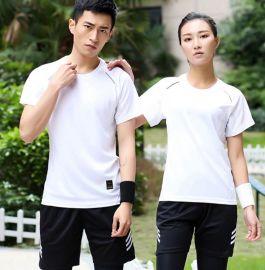 速干衣男女短袖t恤圆领夏季运动跑步户外  宽松健身T恤衫印logo
