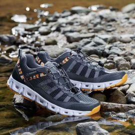 夏季新款情侣户外登山鞋网面透气运动防滑徒步越野跑鞋男女溯溪鞋