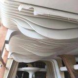 三亞訂製白色弧形波浪造型鋁方通 2.5mm鋁單板燒焊弧形鋁方通天花