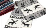 韓版波西米亞名族風小鹿雙面保暖毛線針織圍巾