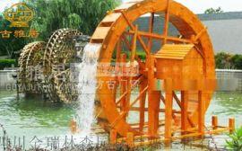 成都景观水车厂,实木水车定制厂家
