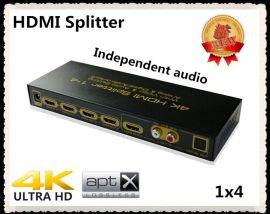 hdmi视频分配器1进4出 1x4 一分四 1.4V 音频分离
