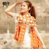 韩新版条纹山羊绒披肩两用毛线围脖秋冬女款长纯羊绒围巾专柜正品