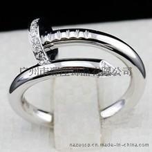 925银饰厂家直销 欧美时尚钉子戒指开口女款