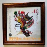西安    皮影紀念冊,陝西門神皮影批