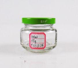 250ml罐头瓶玻璃烤花罐头瓶