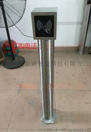 小区门禁立柱读卡立柱刷卡立柱不锈钢立杆按钮立柱