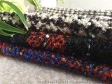 花色圈圈格粗纺羊毛面料