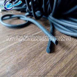 诺亿硅橡胶密封条 黑色实心硅胶圆条