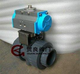 气动UPVC塑料陶瓷球阀,陶瓷芯球阀