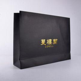 手提袋 精品黑色手提袋 购物手提纸袋
