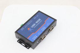 双串口服务器 RS232/485/422转以太网USR-N520
