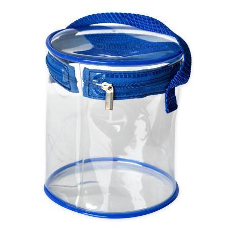 环保PVC圆筒袋 手提圆筒拉链袋