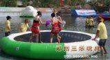 充氣水滑梯 水上充氣蹦蹦牀 山東青島水上遊樂設備