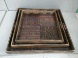 竹制託盤多少錢 仿古託盤 酒店餐盤 野炊用具