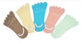 贞正厂家批发纯棉春夏薄款  隐形分趾袜时尚  吸汗防臭五指袜  女