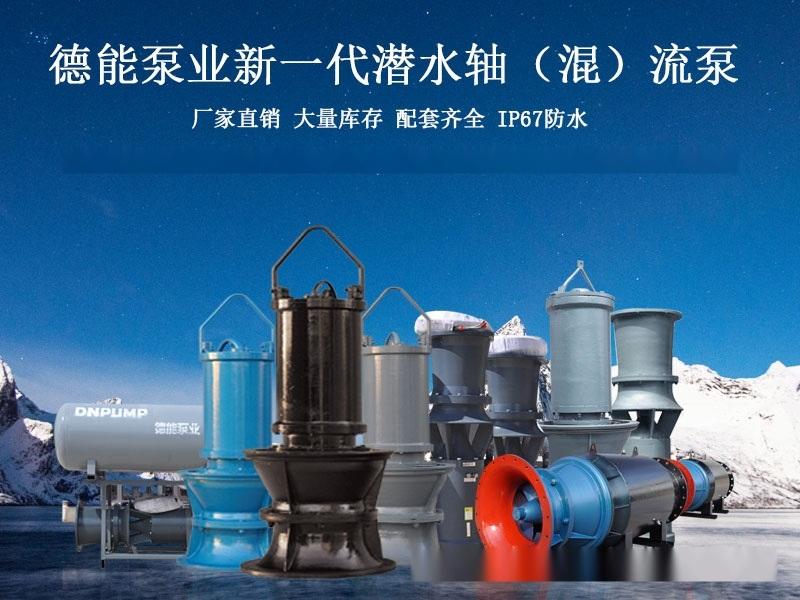 设计工程潜水轴流泵图纸-德能