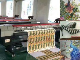 赛图3米2无缝拼接UV软膜,墙纸壁纸墙布高清写真机,喷绘打印机