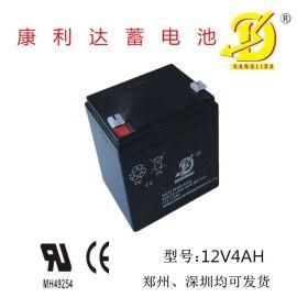 电动玩具电池用12v4AH康利达蓄电池 电子仪器仪表蓄电池 **隔板不漏酸电池