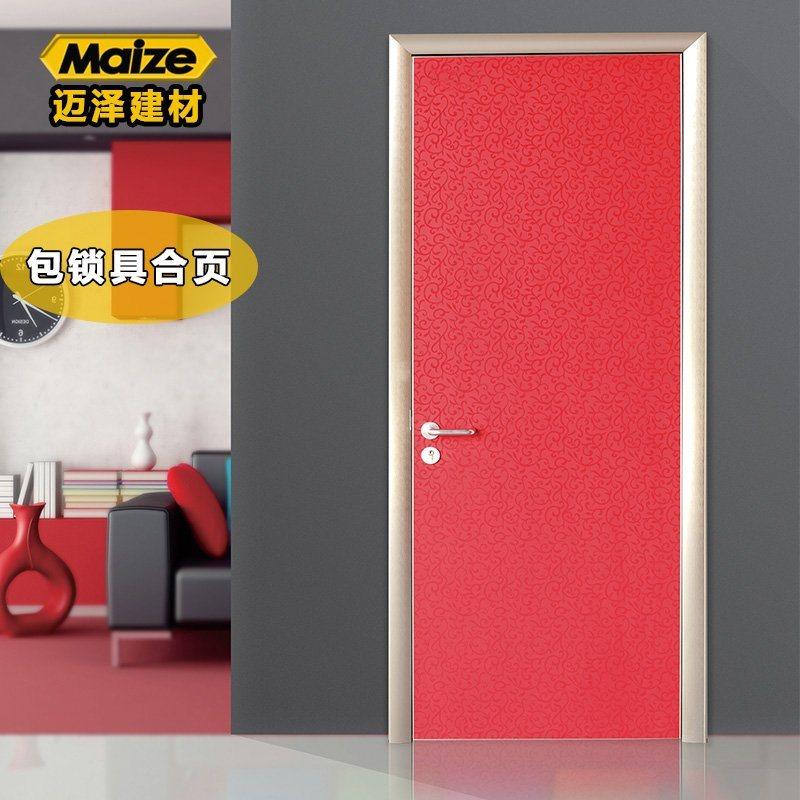 厂家直销迈泽建材定制铝合金生态门 简约卧室门 室内房间门 套装门