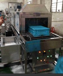厂家低价销售物流用塑料周转箱除油除尘网带式清洗烘干机 周转筐清洗机 生产厂家