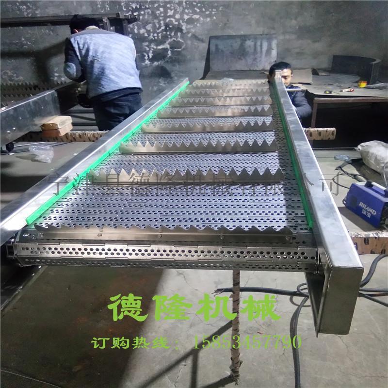 德隆DL863非标定制链板输送机破碎薄膜编织袋专用