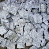 各种规格芝麻灰弹石黑色弹石路面铺装芝麻灰小料石