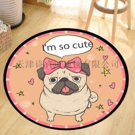 宠物用品 宠物地垫 卡通圆形地垫定做