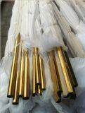 201-304黃鈦金不鏽鋼管廠家 黃鈦金不鏽鋼管價格