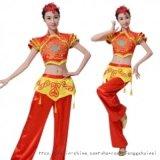 新款红色古典舞蹈演出服装定制设计厂家