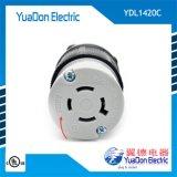 美标大功率工业专用电源插头插座 美式组装锁式插头
