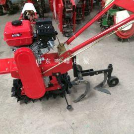 菜地施肥松土手扶履带微耕机, 小型单履带独轮耕地机