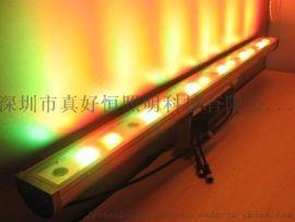 LED洗墙灯户外大功率广告婚庆防水七彩线条形投射灯