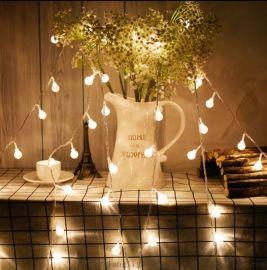 LED水晶球彩灯气泡球灯串圣诞婚庆节日户外装饰灯串