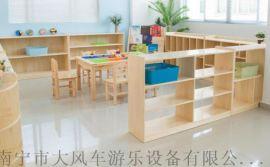 南宁幼儿园书架组合书柜 实木玩具柜 南宁幼儿家具厂