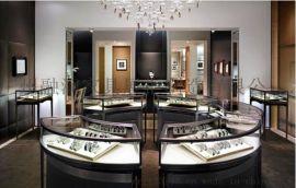 广州融润家具定做钛合金珠宝首饰展示柜制作设计厂家