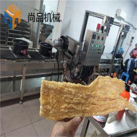 电加热豆腐皮油炸机器 **豆皮干油炸流水线设备