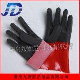 厂家直销工业防护手套柔软耐油耐酸碱防化手套劳动防护防滑发泡防滑手套