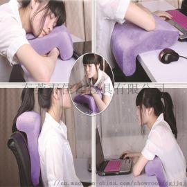 記憶棉午睡枕創意抱枕枕頭多功能午睡靠枕趴趴枕