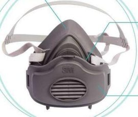 3m3200硅胶半面型防粉尘面具