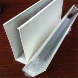 工程木紋型材鋁方通 熱轉印木紋鋁方通配封頭外牆裝飾