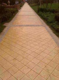 艺术压印道路压模地坪园林道路地坪彩色混凝土压花地坪强化剂桓石2017012