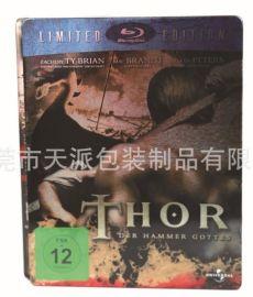 科幻电影光碟包装铁盒、4片装DVD包装铁盒
